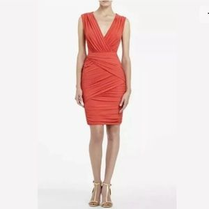 BCBG Open Back Bodycon Ruched Stretchy Lou Dress